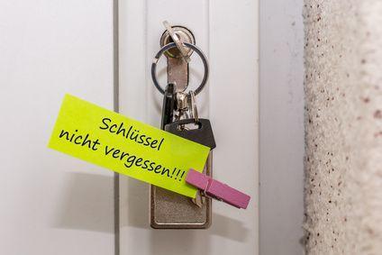 Schlüssel nicht vergessen!